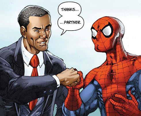Obama-Spidey