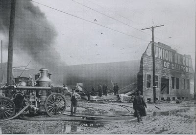 Union Oil fire, Portland Oregon, June 26 1911