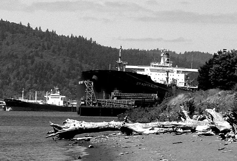 Ship and Riverbank