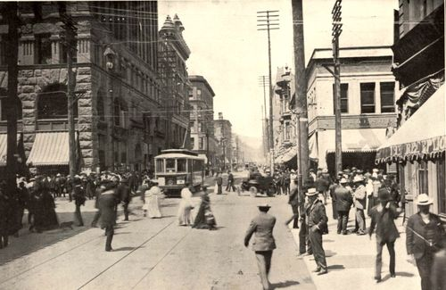 Washington and 3rd Portland Oregon circa 1890s.