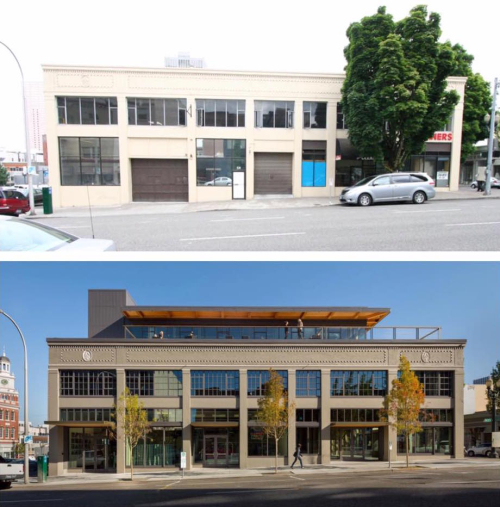 12th and Alder before and after