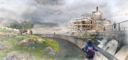 WFLP_Final Concept Design_PGE Dam  Clarifier Path View