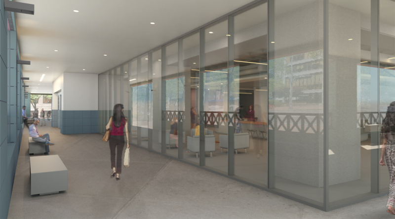 SW Loggia View of Entrance_Rendered
