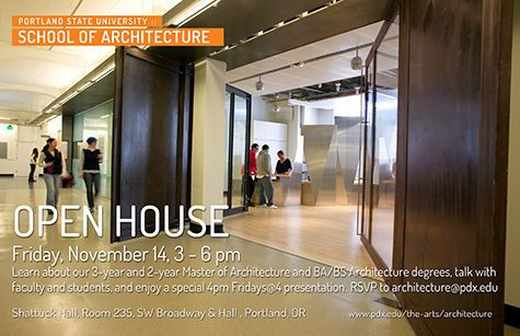 Open House Nov 14 poster PortlandArch