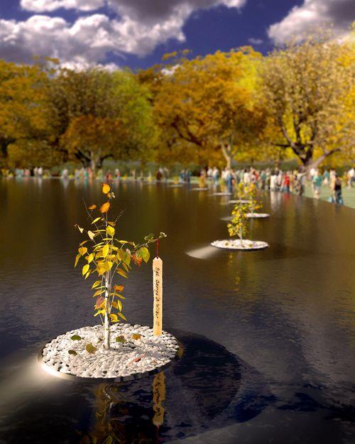 11 WWII Memorial - Peace Returns - Stephen Miller rendering