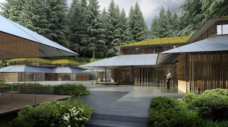Portland Japanese Garden Cultural Village Architectural Rendering