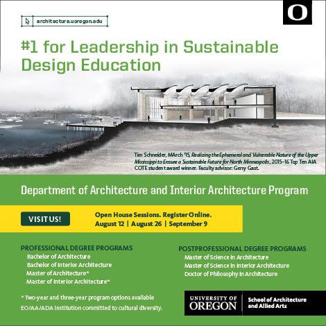 Portland Architecture Ad Univ Of Oregon