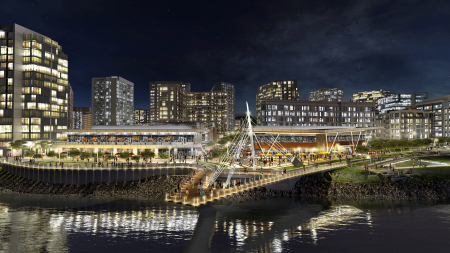 The Waterfront - Project Rendering Night